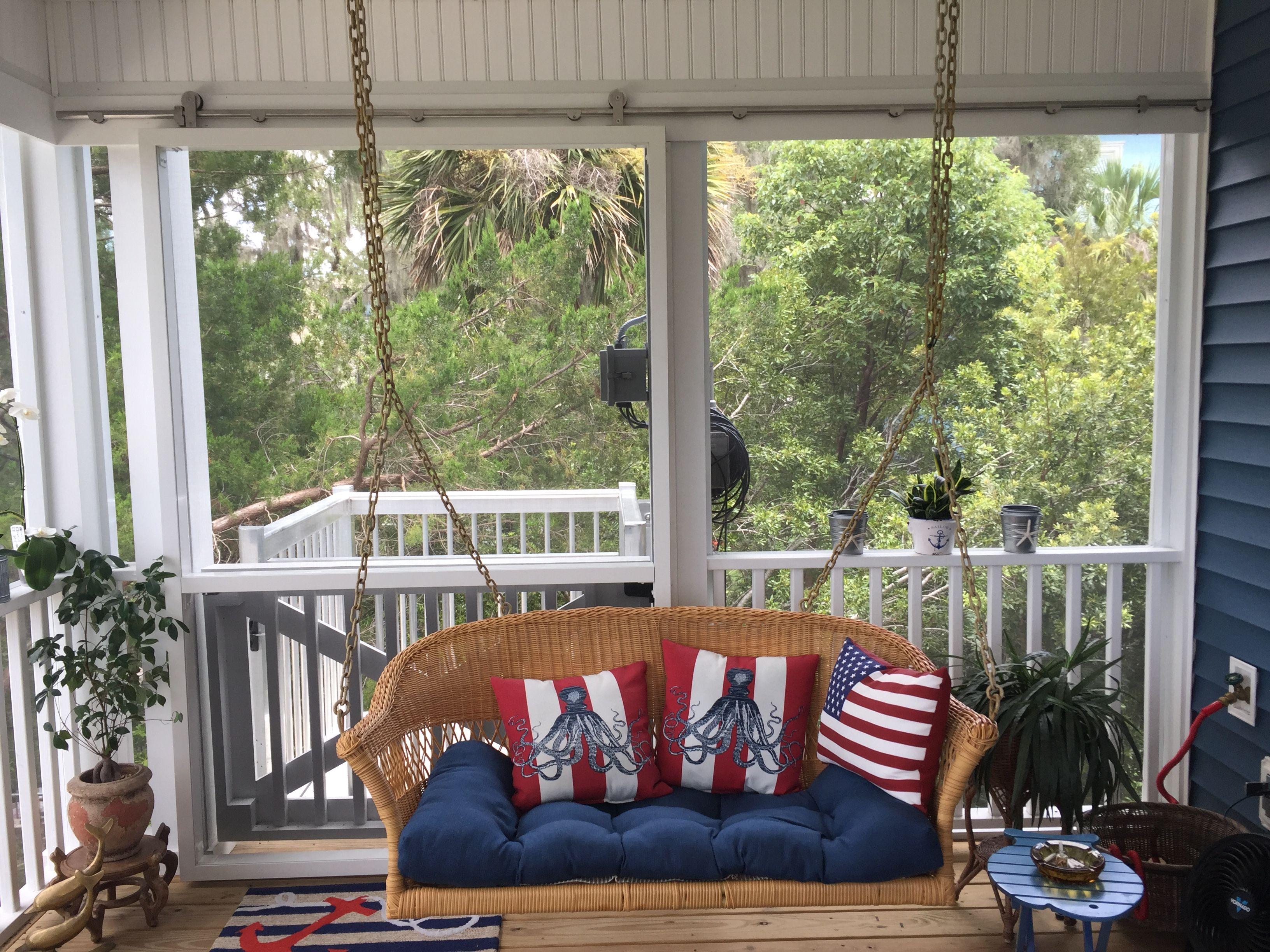 Legacy Cargo Lift On Screen Porch Sliding Door On Barn Door