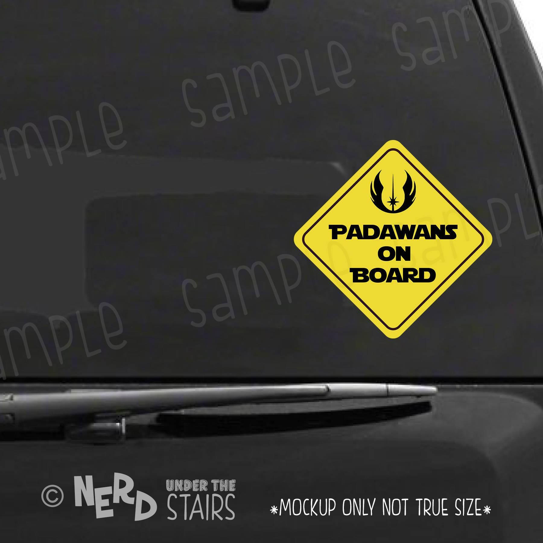 Star Wars Inspired Padawan on Board Vinyl Decal Sticker