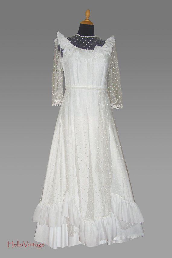 70er Vintage Brautkleid von HalloVintage auf Etsy, €220.00 ...