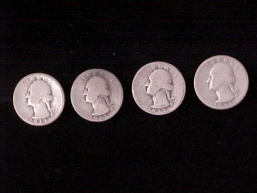 4 1932 Silver 90 Washington Quarters 1st Year Issue Original Uncleaned AG G | eBay
