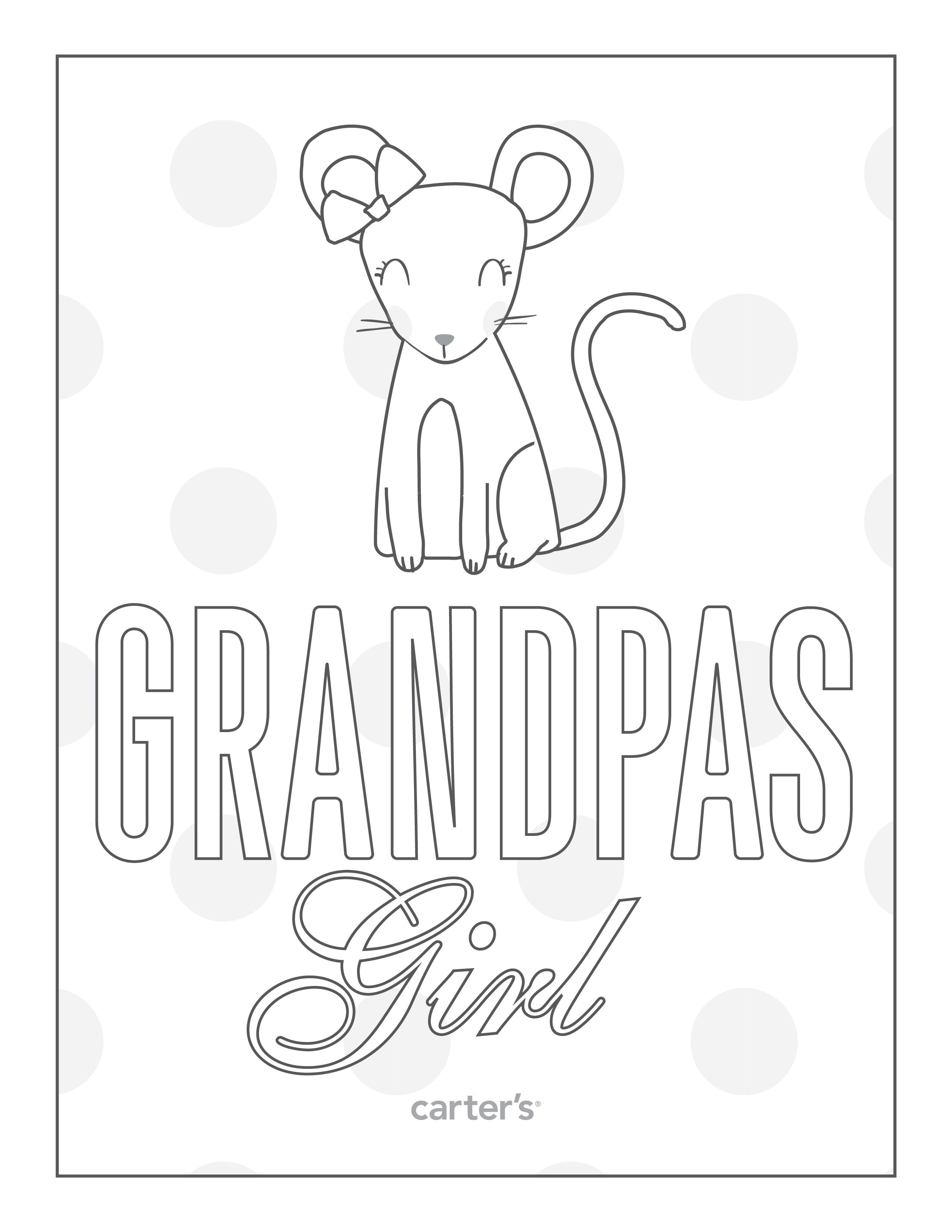 Grandpas Girl. Download free Grandparent\'s Day coloring pages from ...
