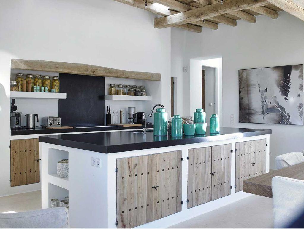 Contemporary mediterranean kitchen design - Kitchen Can Trull Ibiza By Blackstad Design