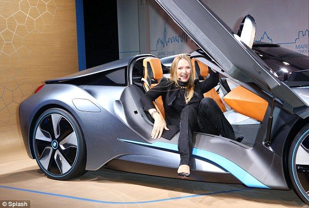 Sexy Super Car Uma Therman Unveiled The New BMW I8 Roadster In York On