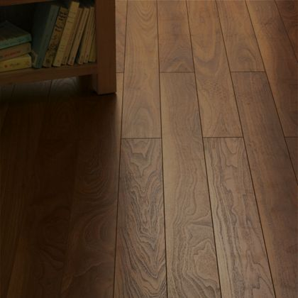 Schreiber Narrow Plank Laminate Flooring Rich Walnut [£14 ...