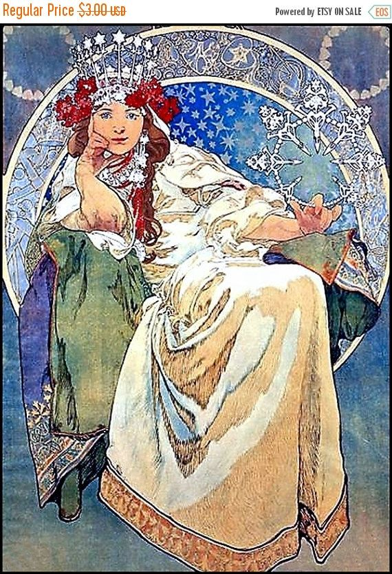 on sale princess hyacinth alphonse mucha greeting card with white included blank inside all packaged in a clear cello envelope for protection m4hsunfo