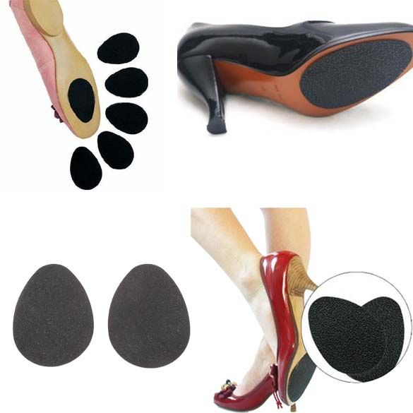 2 Pair Woman/'s High Heel Shoe Sole Gripper Protector Louboutin Red Self Adhesive