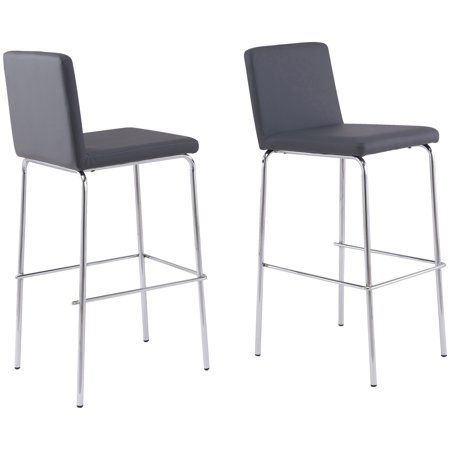 Surprising Mainstays Chrome Leg Bar Stool Gray Faux Leather Products Cjindustries Chair Design For Home Cjindustriesco