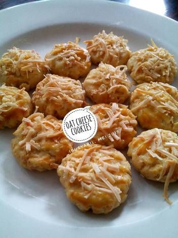 Resep Oat Cheese Cookies Oleh Putrii Al Madinah Resep Makanan Buatan Makanan Resep