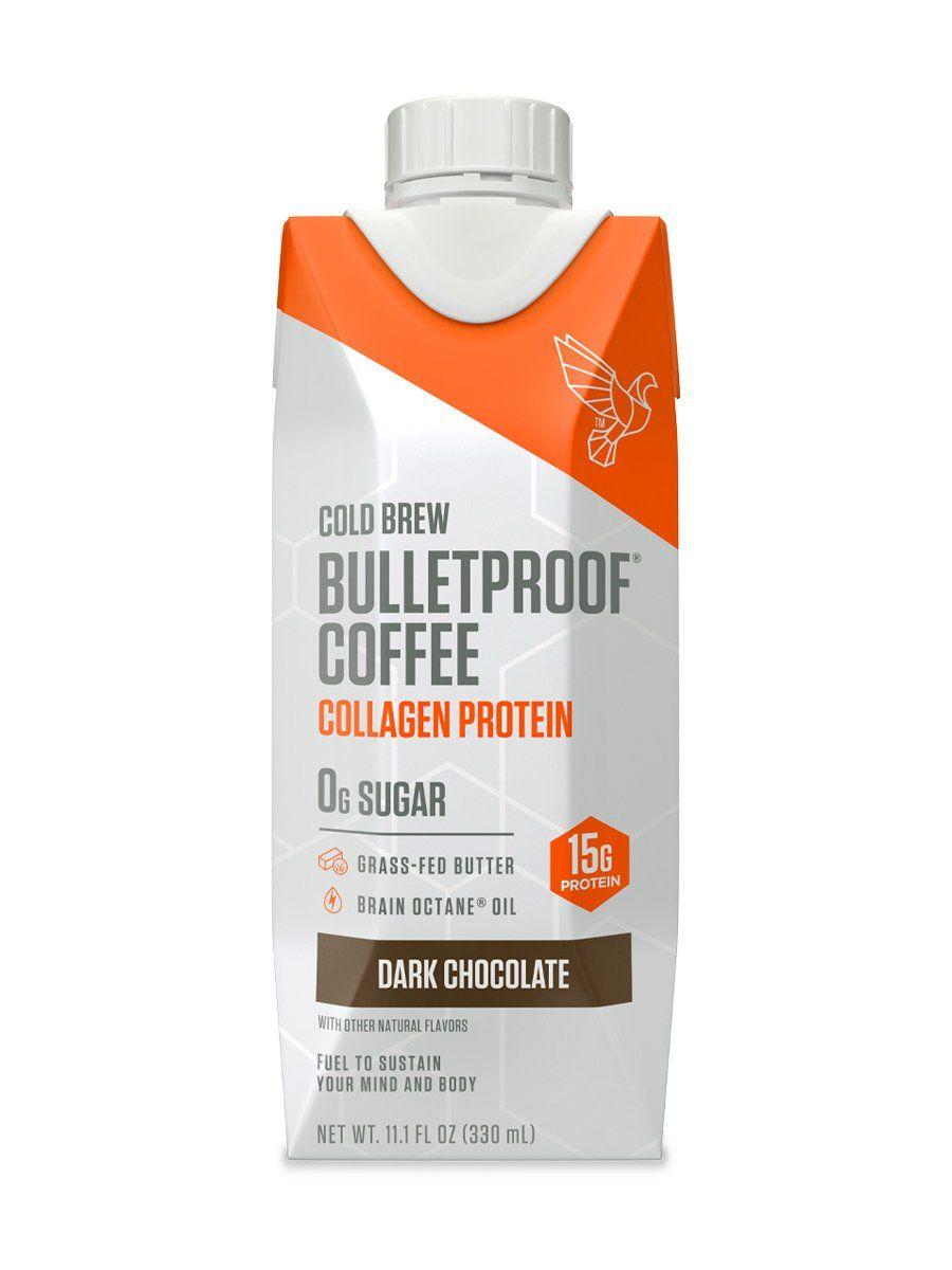 Dark chocolate cold brew with collagen protein 4ct