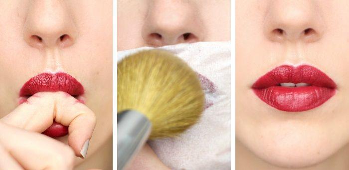 Langer Halt Lippenstift Trick