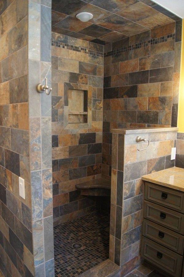 Open Shower Ideas Awesome Doorless Shower Creativity Decor Around The World Bathroom Remodel Shower Rustic Bathrooms Rustic Shower