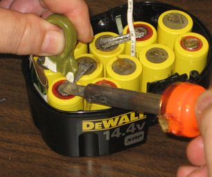 How To Rebuild A Dewalt 14 4v Battery Pack Cordless Drill Batteries Homemade Tools Cordless Drill