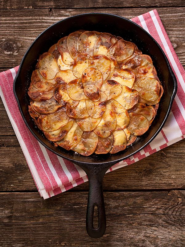 Goat cheese & carmelized onions potato galette