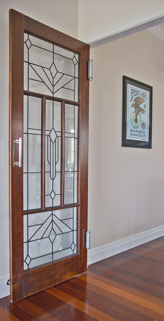 Leaded glass door in Holland Park West | Walk Among The Homes : leadlight doors - pezcame.com