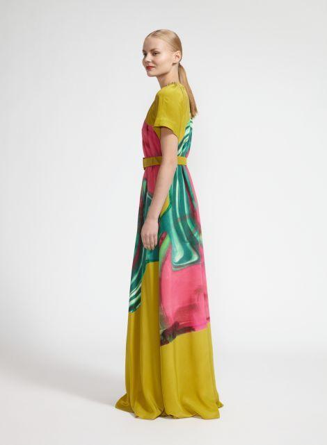 Pyörähdys dress (green pink, tuquoise) |Clothing, Women, Dresses & skirts | Marimekko
