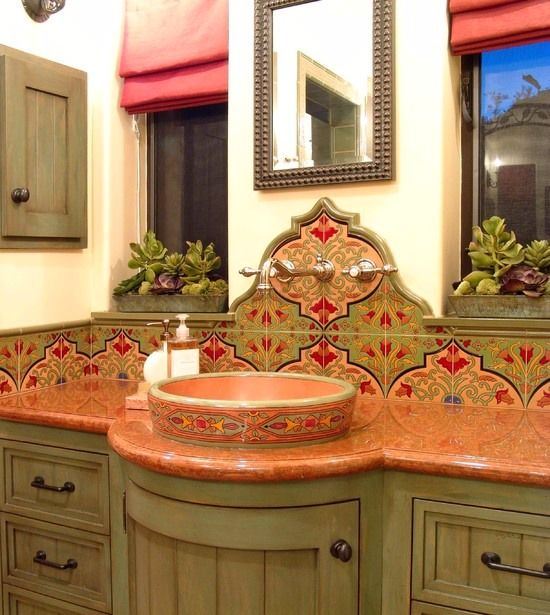 Mexican Themed Sink And Countertop In 2019