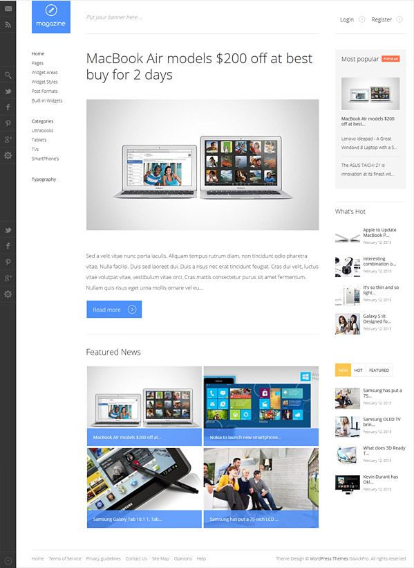 Magazine Wordpress Blog Magazine Theme Wordpress Blog Template