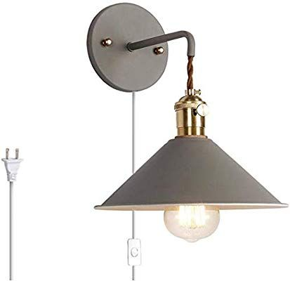 Kiven Nordic Wall Sconce One Cable Mains Plug And On Off