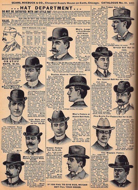 19th century - Mens Fashion- A plethora of hats to choose from ... 6990fb2efdd