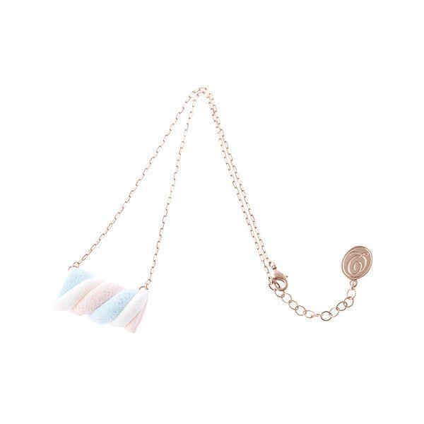 マシュマロ ネックレス ❤ liked on Polyvore featuring jewelry, necklaces and accessories
