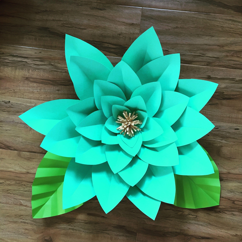 Large Teal Flower by EvietreatsCrafts on Etsy https//www
