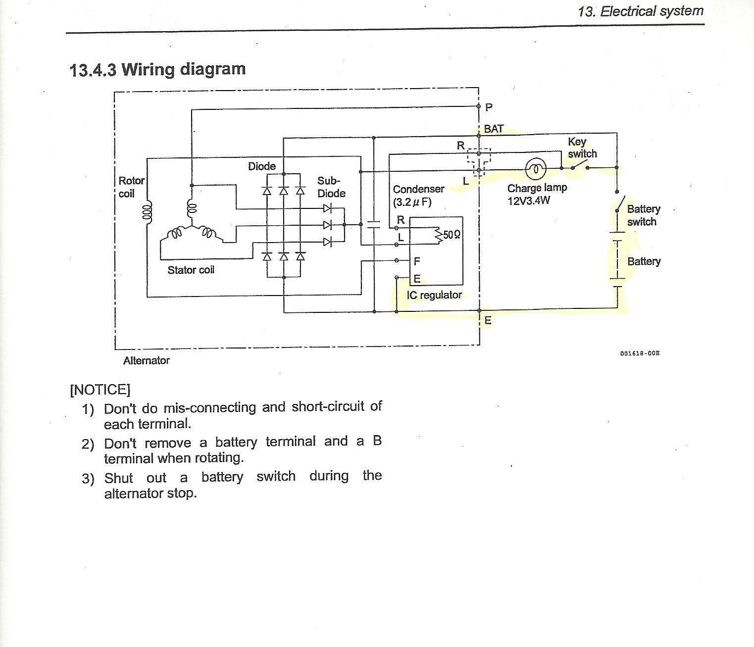 Awesome Isuzu Alternator Wiring Diagram Diagrams Digramssample Diagramimages Wiringdiagramsample Wiringdiagram Alternator Diagram Electrical System