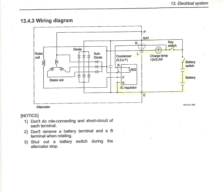 Awesome Isuzu Alternator Wiring Diagram Diagrams