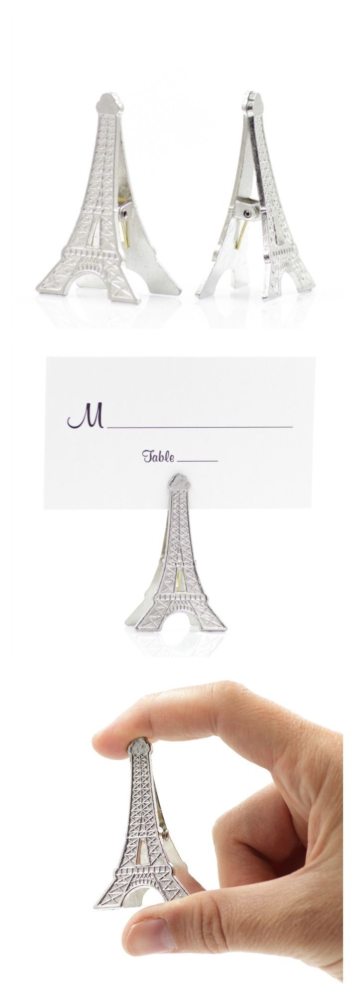 Eiffel Tower Wedding Place Card Holders | Party Decorations ...