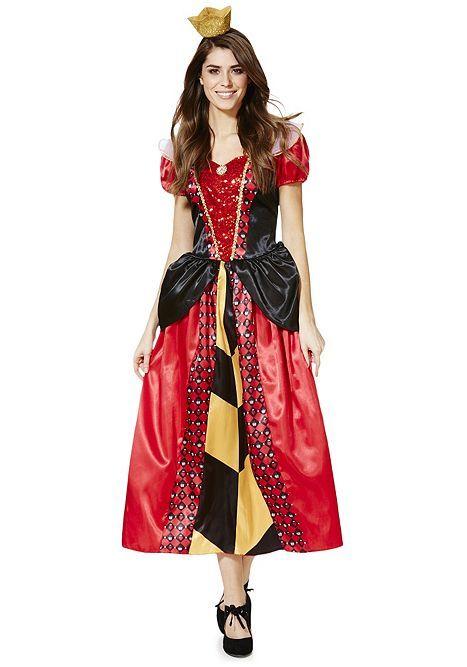 Tesco Direct: Disney Alice In Wonderland Queen Of Hearts Adult Dress Up  Costume