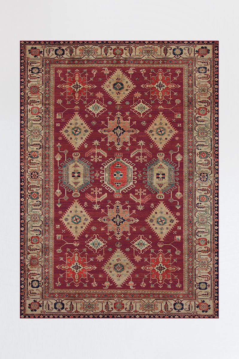 Cambria Ruby Rug In 2019 Mid Century Modern Global Living Room Dining Room Contemporary Living Room Furniture Washable Area Rugs 5x7 Rugs