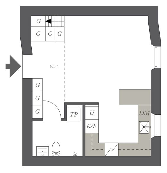 Great Tiny Apartment in Sweden | Small studio apartment ...