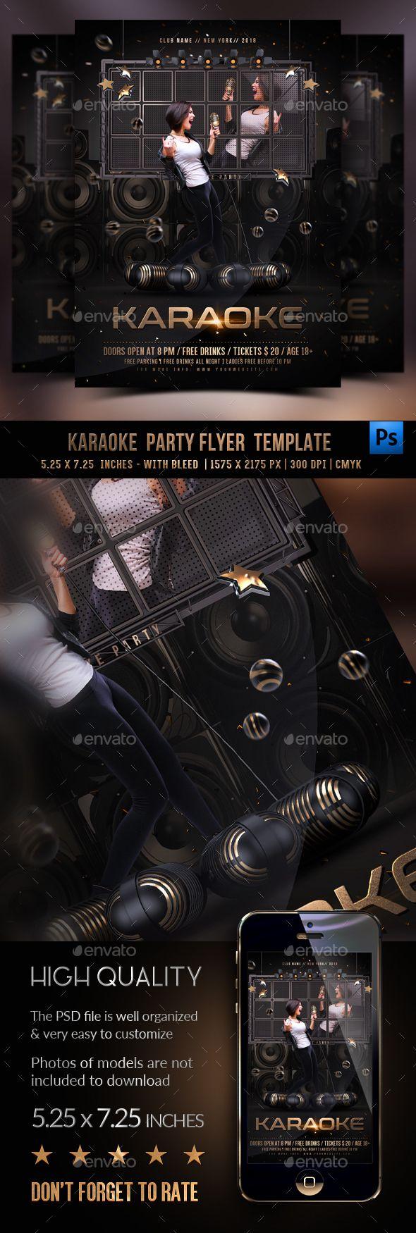 Karaoke Flyer Template Pinterest Flyer Template Karaoke And
