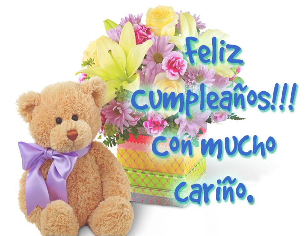 Felicitaciones De Cumpleaños Con Flores: Flores Para Cumpleaños Imágenes Oso