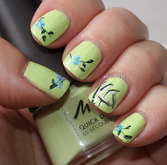 42 Fotos de uñas color verde - Green Nails | Decoración de Uñas ...