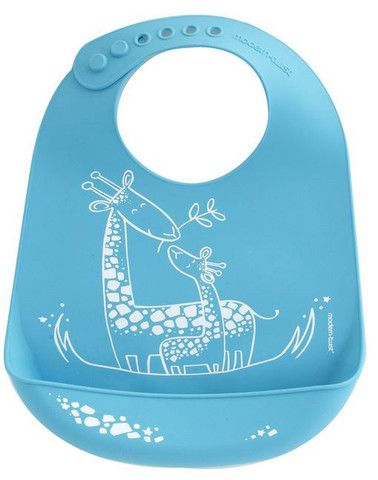 Modern Twist's Bucket Bib: baby and eco-friendly! Made from silky silicone. It's pocket will catch all the bits that their mouths didn't! Easy to clean and safe to wear, this bib makes cleaning up so much easier!   -Availabe in: Giraffe Giggles, Monkey Business, Elephant Hugs, and Dandy Lion | Ga Ga for kids