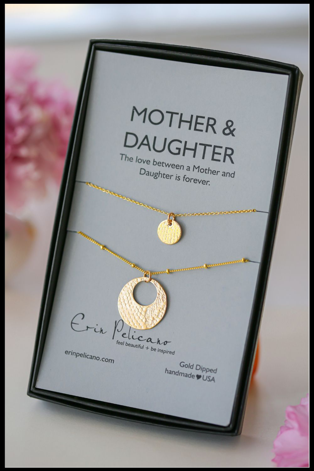Gold Mother Daughter Necklace | Fine Artisan Jewelry by Erin