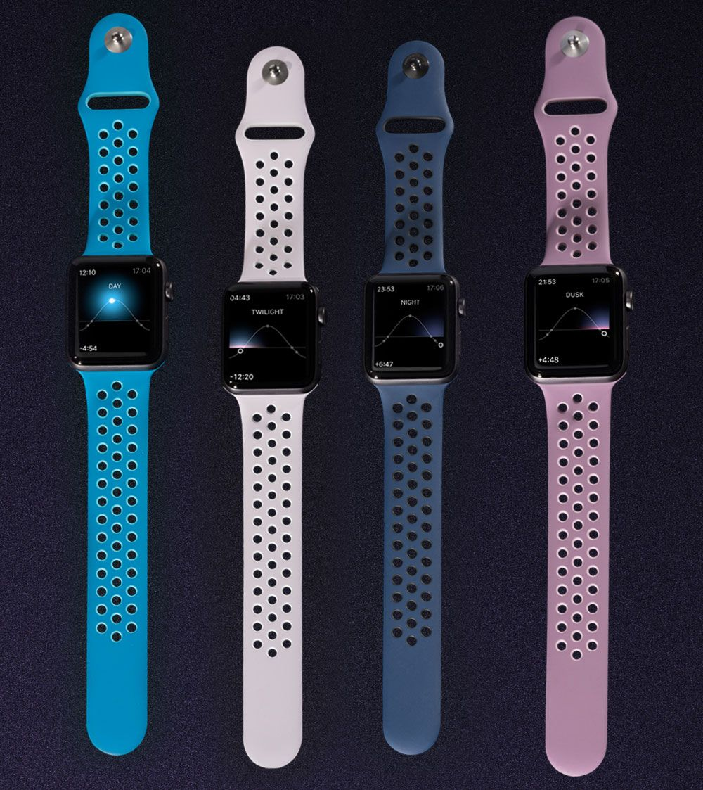 Apple Watch Nike+ Sport Bands 'Day To Night' Colors Watch