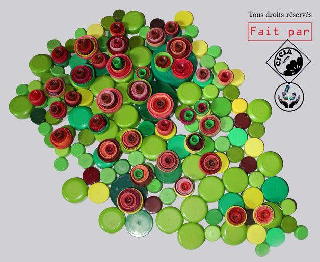 Häufig Artiste plasticienne recyclage artistique. Fleurs, Mur Végétal  RL49