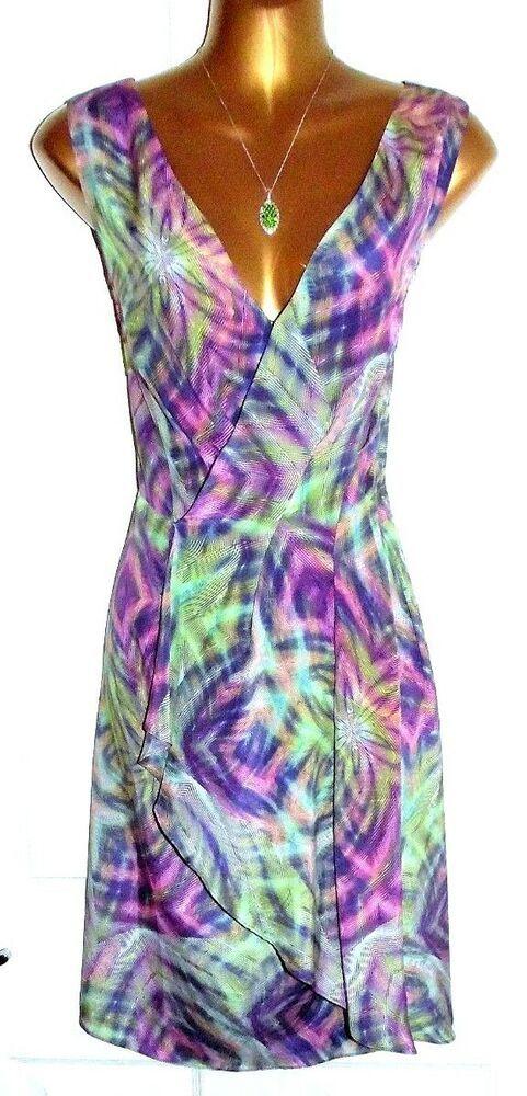 Stunning FENN WRIGHT MANSON 100% Silk Wrap Style Pleated Dress UK 16 US 12   fashion  clothing  shoes  accessories  womensclothing  dresses (ebay link) 34caec9f1