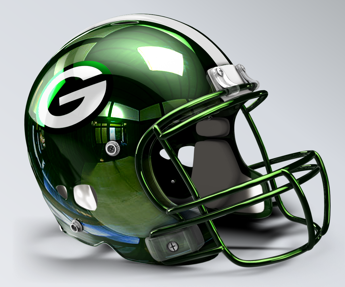 Green Bay Packers Concept Helmet 2 Nfl Football Helmets Mini Football Helmet