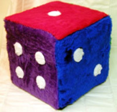 Fuzzy Dice 12 Inch Cube Beginning Quilting Fuzzy 6 Sided Dice