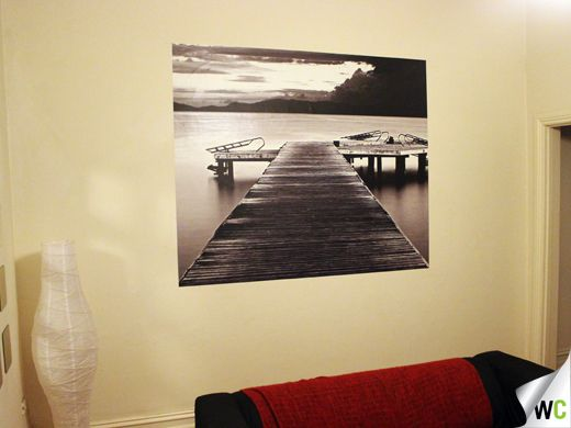 Sitting on the dock of the bay... this recently installed wall art ...