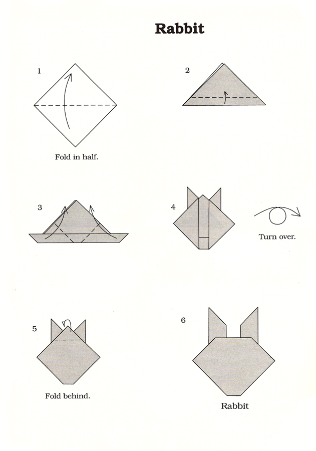 Rabbit Origami Instructions Paper Makin Things