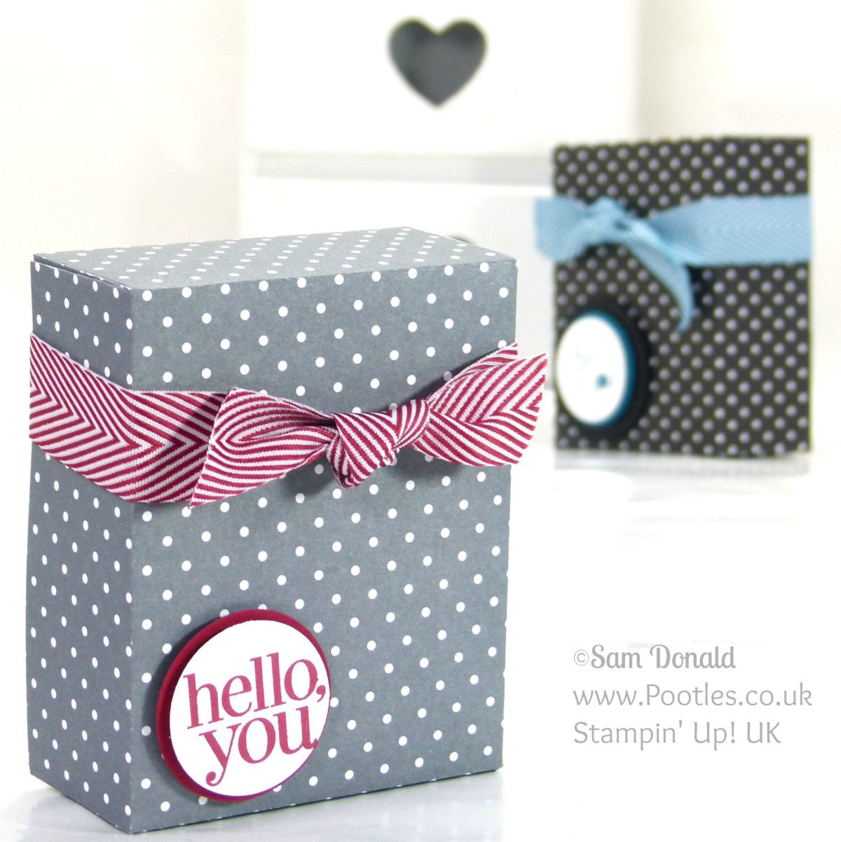 Stampin' Up! UK Independent Demonstrator Pootles. Paper Box Tutorial using Stampin' Up Designer Paper