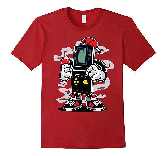 Mens Tshirt factory Brick Gamer T-shirt 2XL Cranberry Merch By