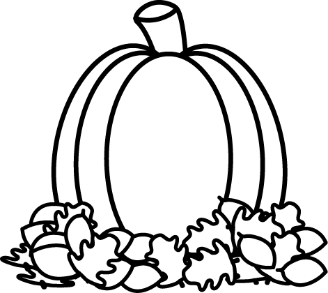 Black And White Pumpkin In Autumn Leaves Fall Clip Art White Pumpkins Clip Art