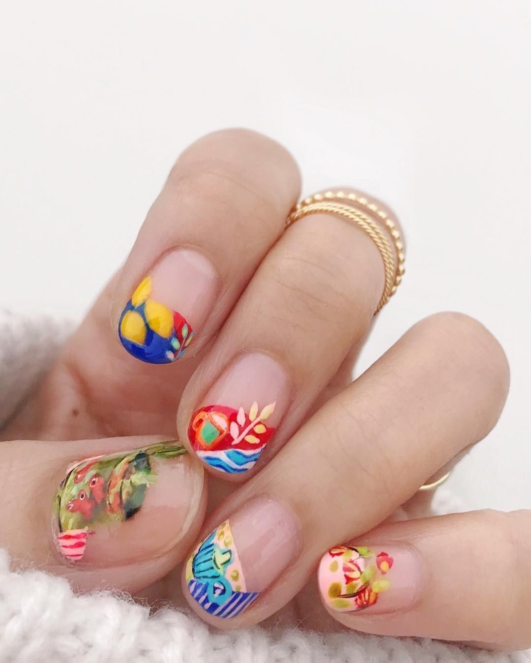 Henna na paznokciach [Mandala Nails]   Henna nails, Nails
