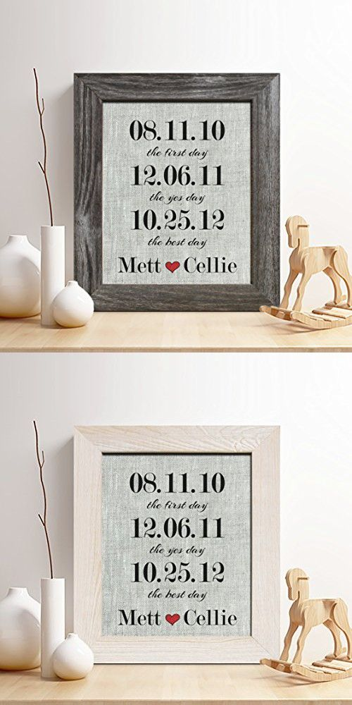 Personalized 4th Linen Anniversary Gift For Him Or Her Special Dates Important Diy Anniversary Gifts For Him Diy Anniversary Gift Boyfriend Anniversary Gifts
