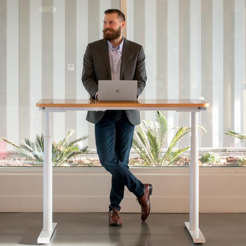 Rise Light Adjustable Height Standing Desk For Sale In San Jose