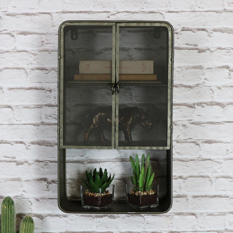 Retro Rustikale Metall Industriell Stil Wandschrank Schlafzimmer